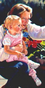 Detail from Artist and child